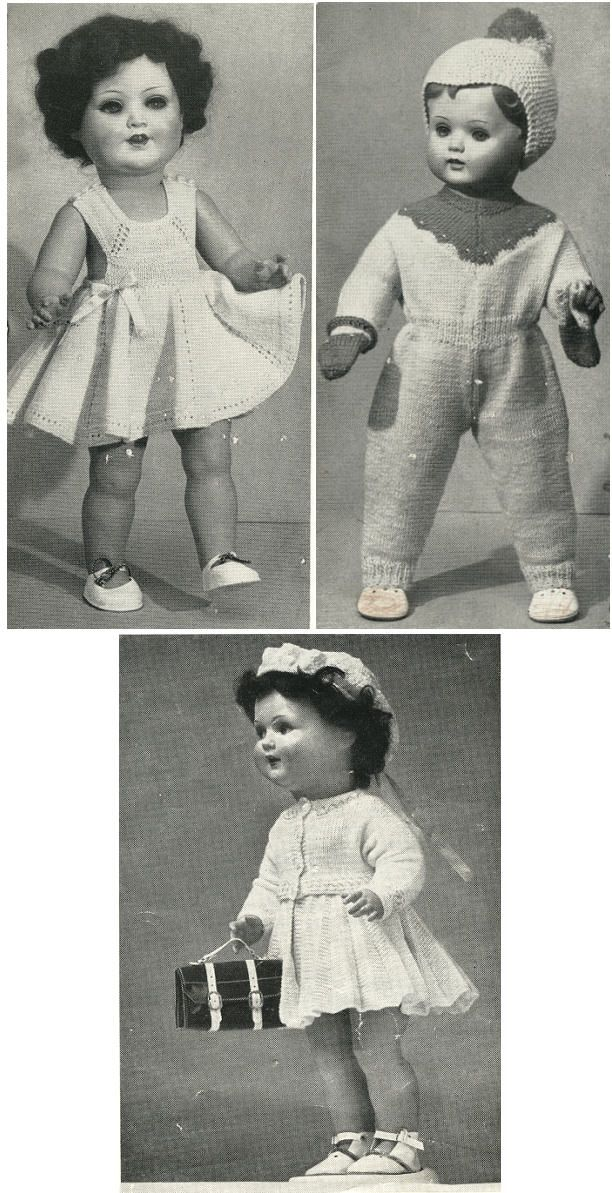 1950's Doll Clothes knitting pattern