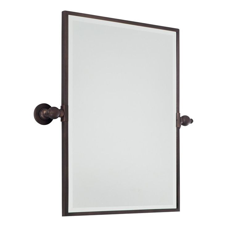 "Rectangular Tilt Bathroom Mirror Tilt your mirror up or down as you need to get a great view. This mirror is featured in 3 classic finishes to match any bathroom hardware.  Choose from Bronze, Chrome or Satin Nickel  (24""Hx18""Wx3.25""D)   Product SKU: MW12057 BZ Price:  $ 349.00"