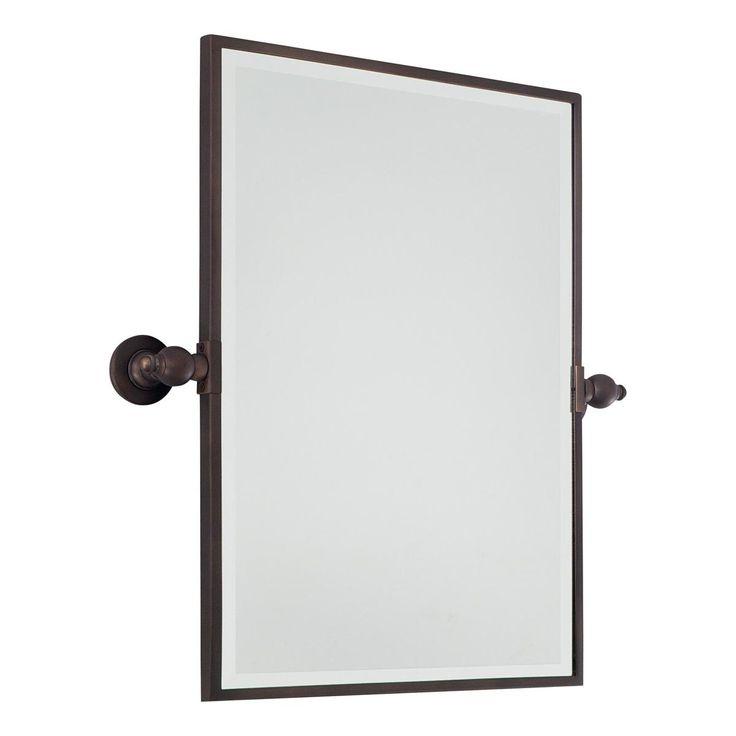 Bathroom Tilt Mirror: Rectangular Tilt Bathroom Mirror Available In 3 Colors