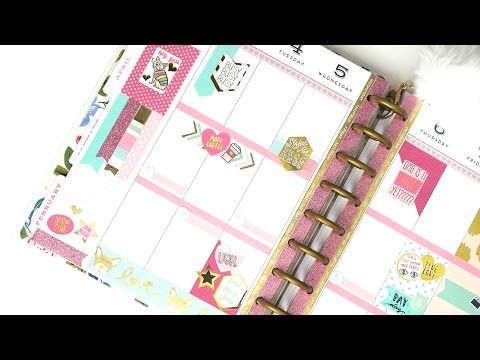 Plan With Me - NO Etsy Stickers: Recollections | The Happy Planner 2017 - YouTube