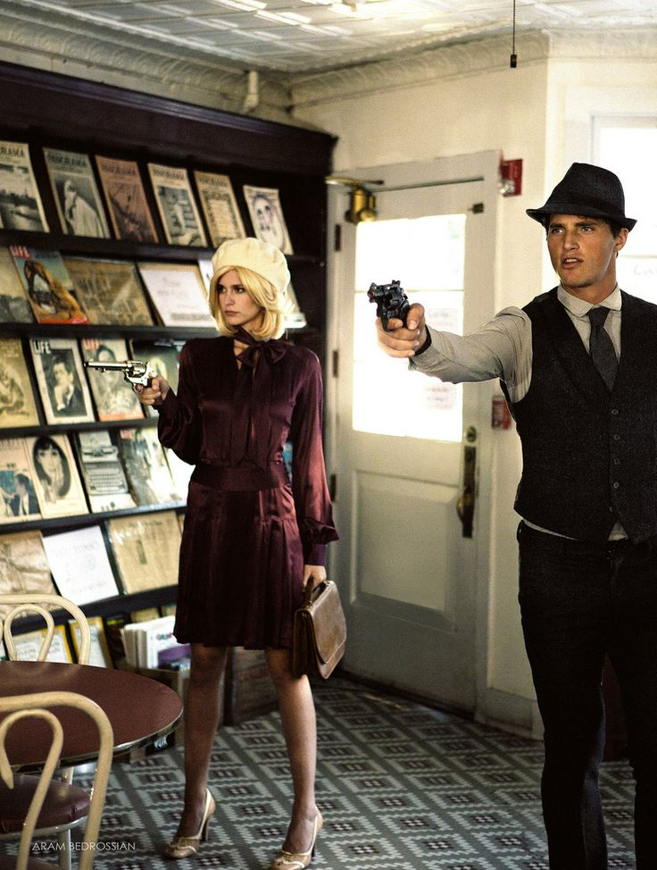 Halloween costume: Bonnie and Clyde. Love this! Now to find my Clyde