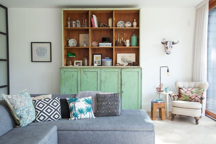 interieur kast groen