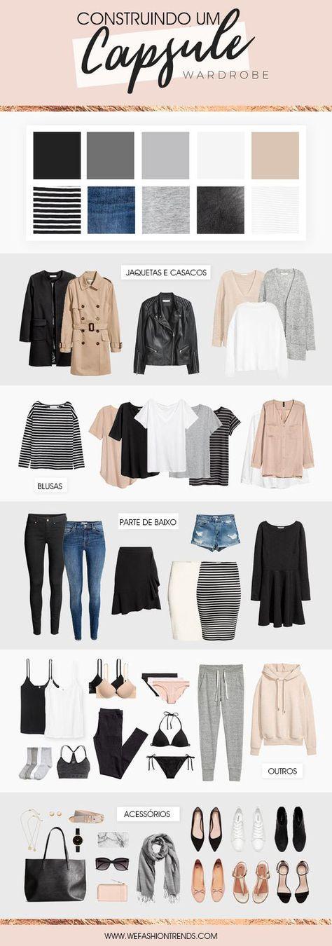 Artesanato Na Escola ~ 25+ melhores ideias de Guarda roupa minimalista no Pinterest Guarda roupa de viagem na cápsula