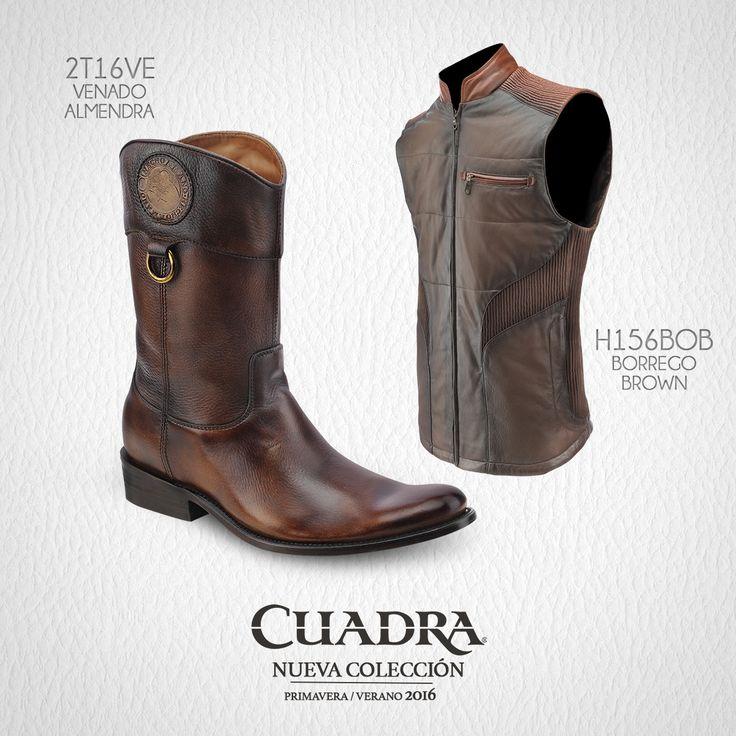 Look para causar buena impresión en la primera cita. #CUADRA #LookCUADRA #Style #Fashion #Exotic #Leather #Chaleco #Boots #Botas
