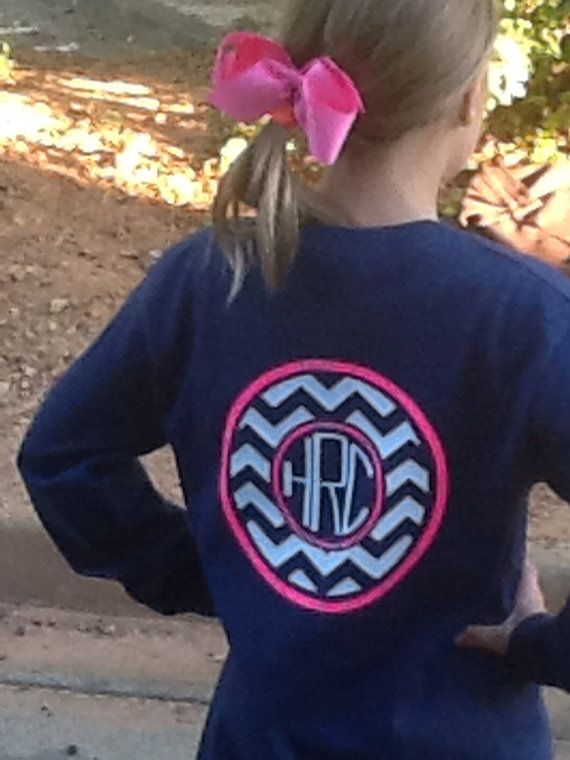 Youth+Monogrammed+Chevron+Shirts+by+TheSassyLetter+on+Etsy