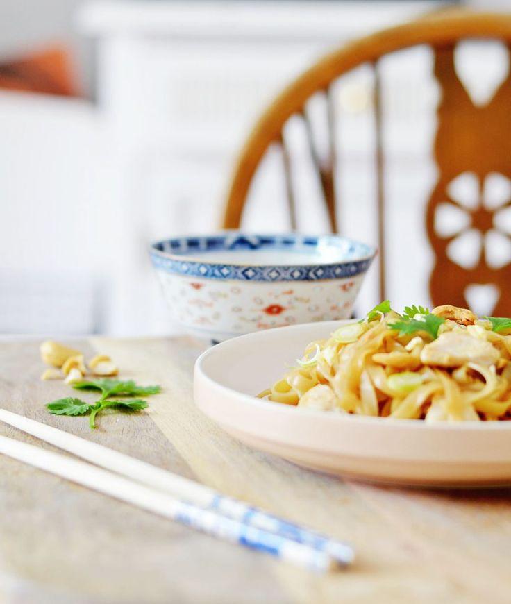 Recept: Pad Thai met garnalen of kip