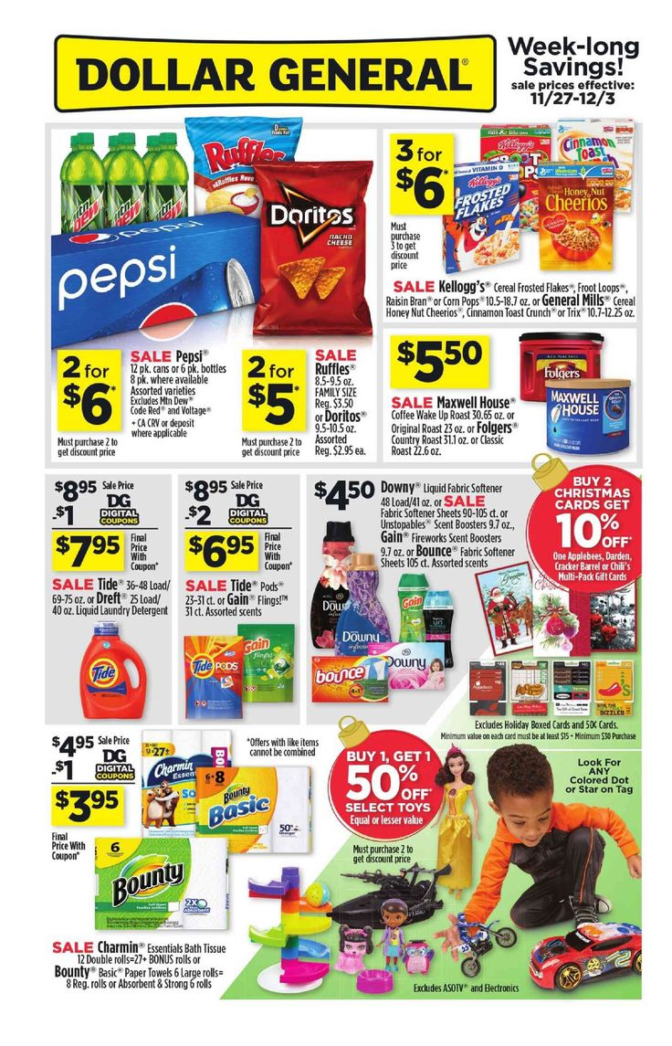 Dollar General Weekly Ad November 27 - December 3, 2016 - http://www.olcatalog.com/grocery/dollar-general-weekly-ad.html