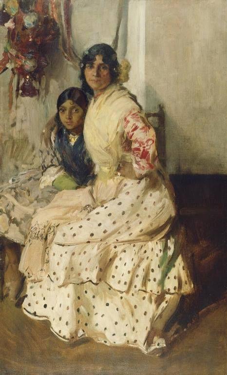 Joaquin Sorolla y Bastida [Spanish, 1863 - 1923], Pepilla the Gypsy and Her Daughter, Spanish, 1910, Oil on canvas