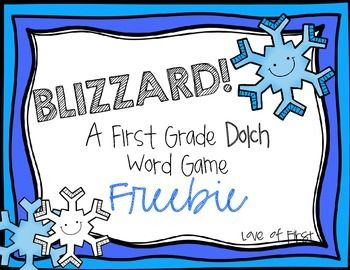 Blizzard-first grade dolch word game