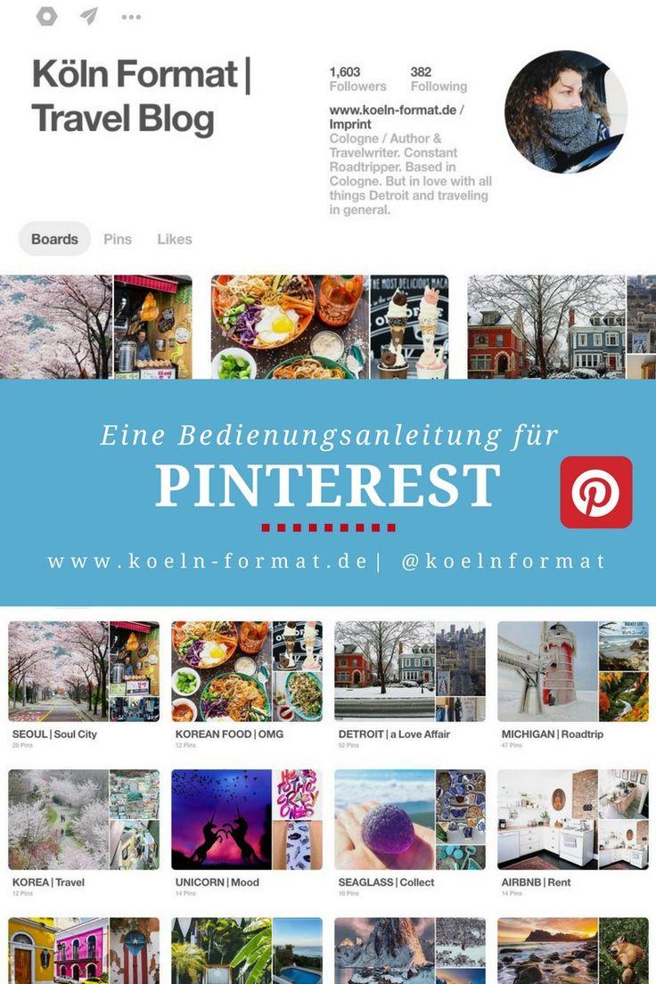 Wie funktioniert eigentlich Pinterest? Diese Bedienungsanleitung für Pinterest beantwortet die wichtigsten Fragen. Dazu gibt es viele Tipps. via @koelnformat