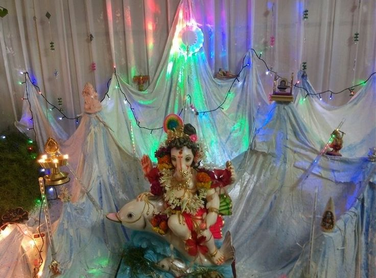 186 Best Ganpati Decoration Ideas Images On Pinterest Ganesh Homemade And Ganpati Festival