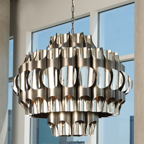 51 best metal lighting images on pinterest light design light impressive exterior chandelier 4 stainless steel chandelier lighting mozeypictures Gallery