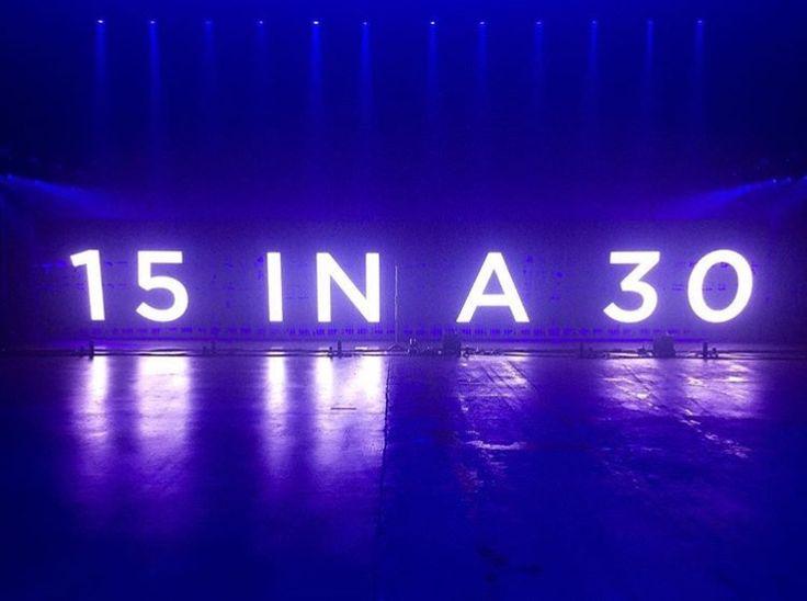 Sam Hunt's 15 in a 30 tour - 2017