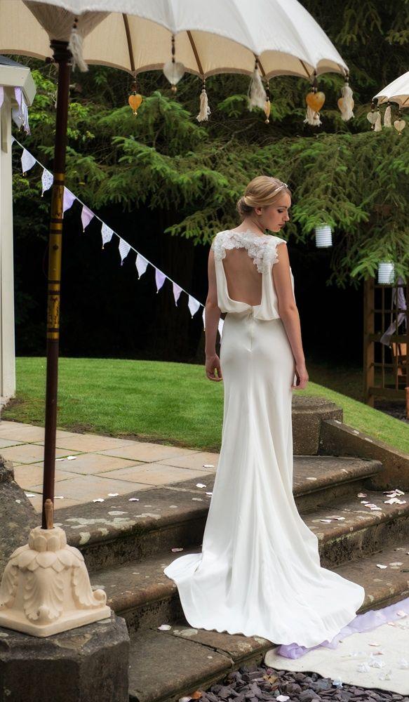 Selina in wedding dress @ Luella's Boudoir