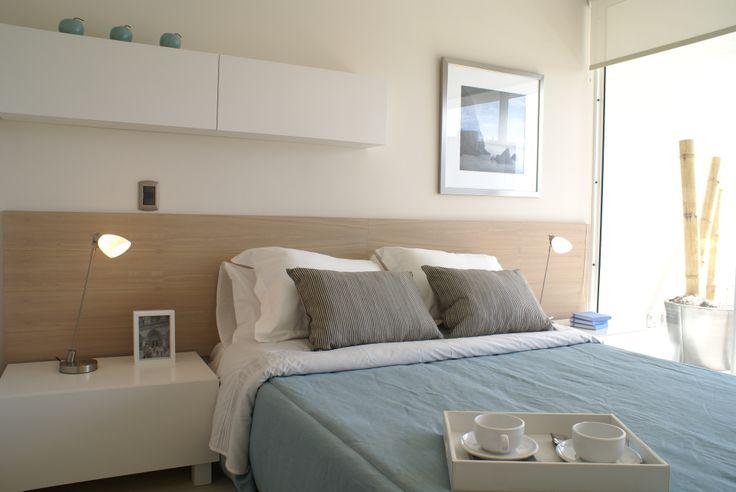 dormitorio BN y celeste
