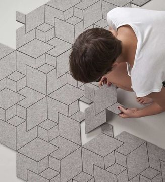 modular carpet system by Allt
