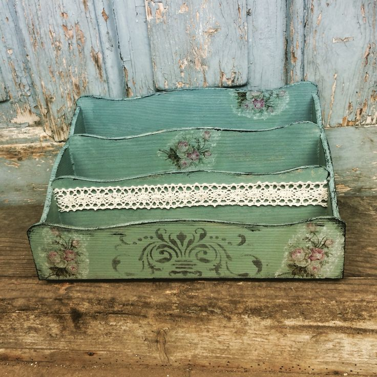 decupage, vintage, post box, FidArt, handmade