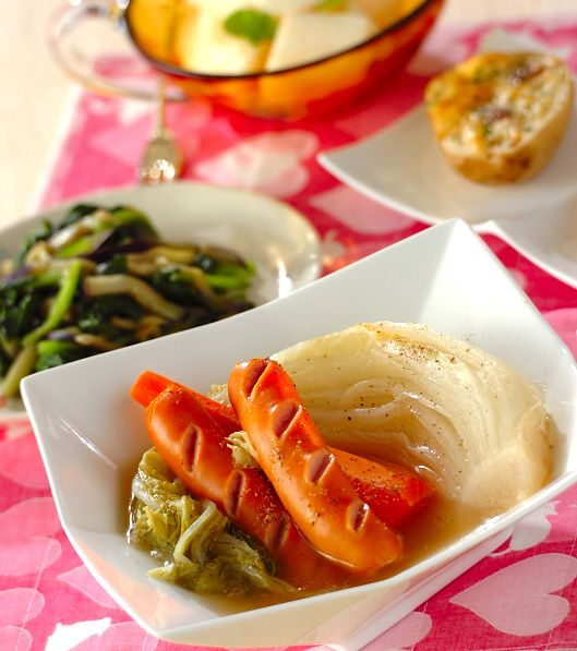 「トロトロ白菜の煮物」の献立・レシピ - 【E・レシピ】料理のプロが作る簡単レシピ/2011.11.11公開の献立です。