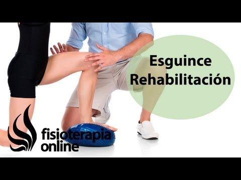 Rehabilitación de un esguince de tobillo.