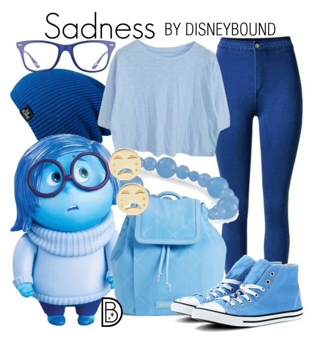 Sadness by leslieakay on Polyvore featuring polyvore fashion style Converse Vera Bradley Natures Jewelry Alison Lou Ray-Ban Dakine Disney clothing disney disneybound