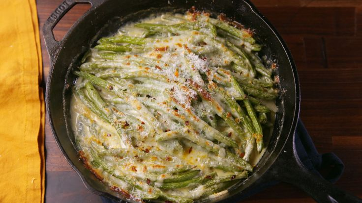 Cheesy Baked Green Beans