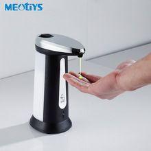 Meotiys 400 ml abs electroplated smart sensor automático dispensador de jabón líquido dispensador de desinfectante de touchless cocina baño(China (Mainland))