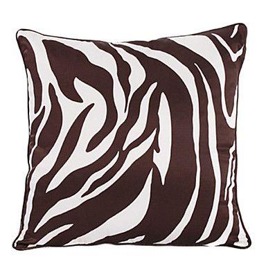 Zebra Print Polyester Decorative Pillow Cover – USD $ 12.99