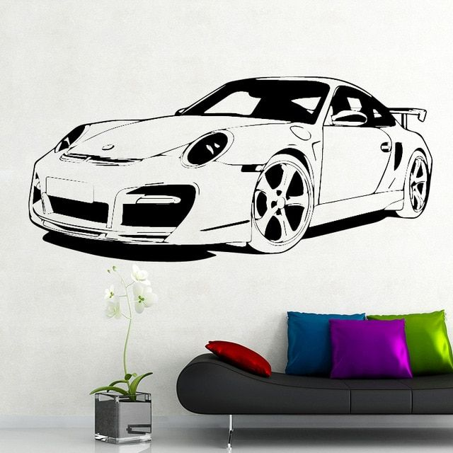 Roadster Wall Sticker Home Decor For Boy Bedroom For Living Room Decorativo Vinyl Wall Sticker Car Mural Poster Ho Cars Mural Wall Decor Stickers Wall Stickers