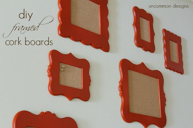 DIY Framed Cork Boards and Cut It Out Giveaway