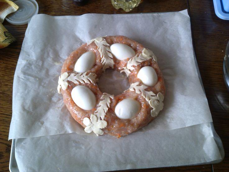 Пирог из куриного филе праздничный