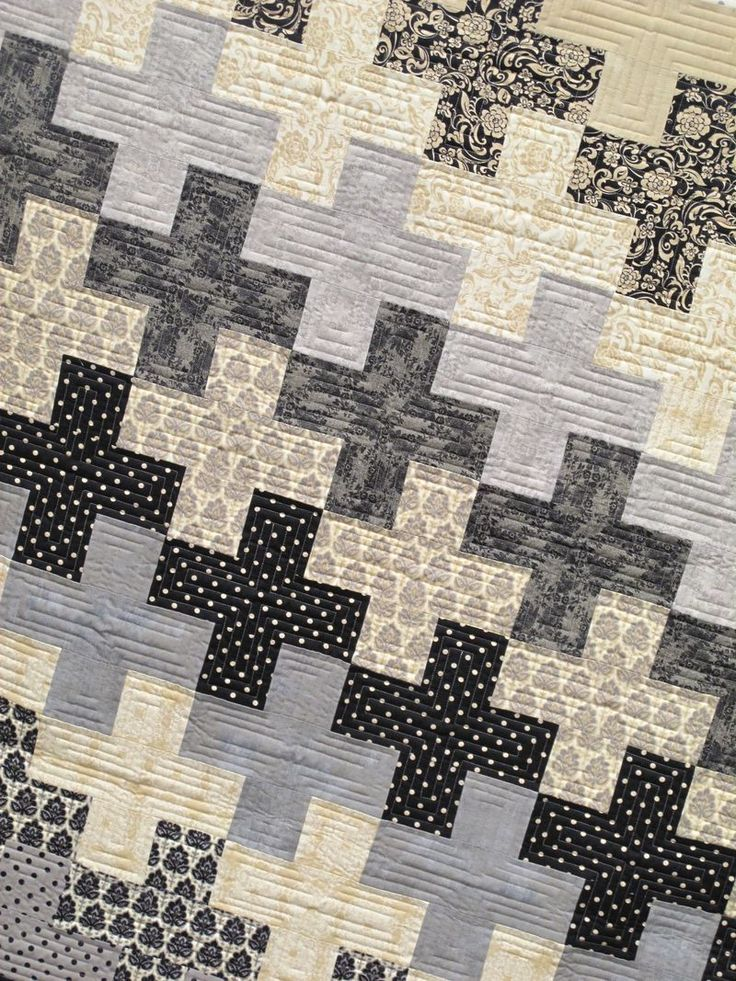 25 best ideas about black quilt on pinterest easy quilt for Black white and gray quilt patterns