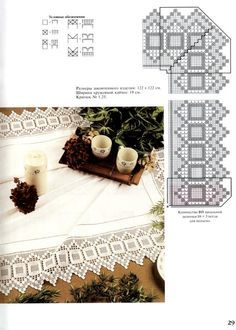 Filet crochet edging with points -geometric - zigzag