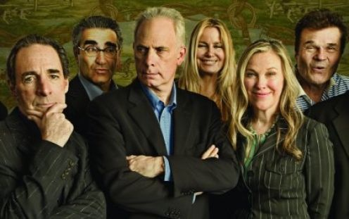 The cast of every Christopher Guest movie. Harry, Eugene, Christopher, Jennifer, Catherine, and Fred.