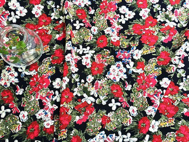 Aliexpress.com: Comprar 100 * 145 cm, 60 S alta calidad tissus au metro, impresa flor payon tela de algodón para colchas de retazos, niñas vestidos tela de tela de algodón voile confiables proveedores de May Store.
