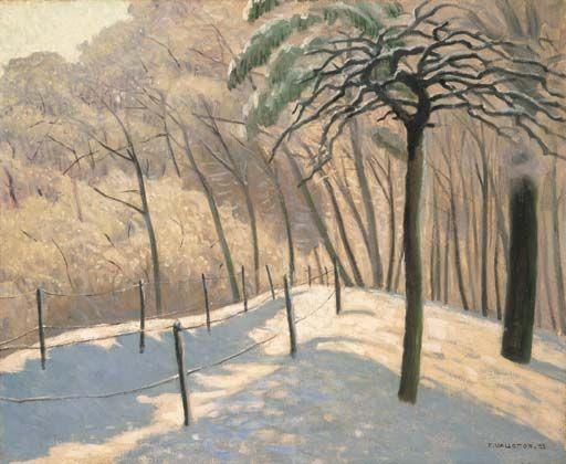 Paysage de neige au Bois de Boulogne, 1925 , by Felix Vallotton