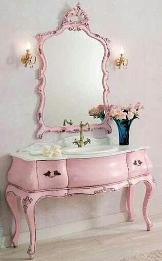 Shabby Pink Vanity