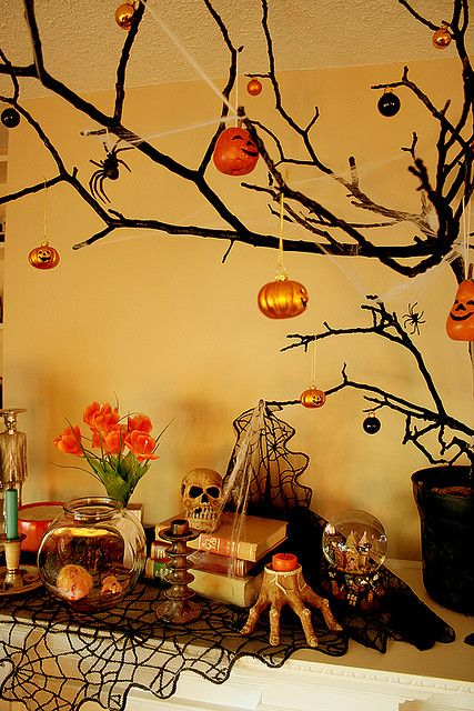 17 best ideas about halloween tree decorations on for Creepy trees for halloween