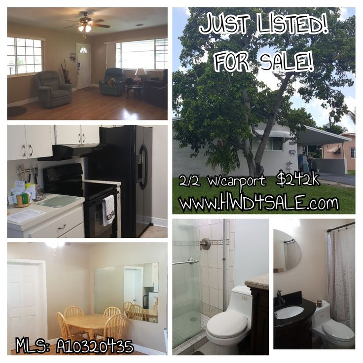 2/2 #hollywood #houseforsale  $242k  great starter home! Mins to #hardrock enjoy your own 🥑 #avocado tree in your front yard, wood & tile floors, huge back yard, spacious master bedroom. Call/text 954-549-3393 to see. or get more info and tour www.hwd4sale.com #justlisted #forsale #hollywoodfl