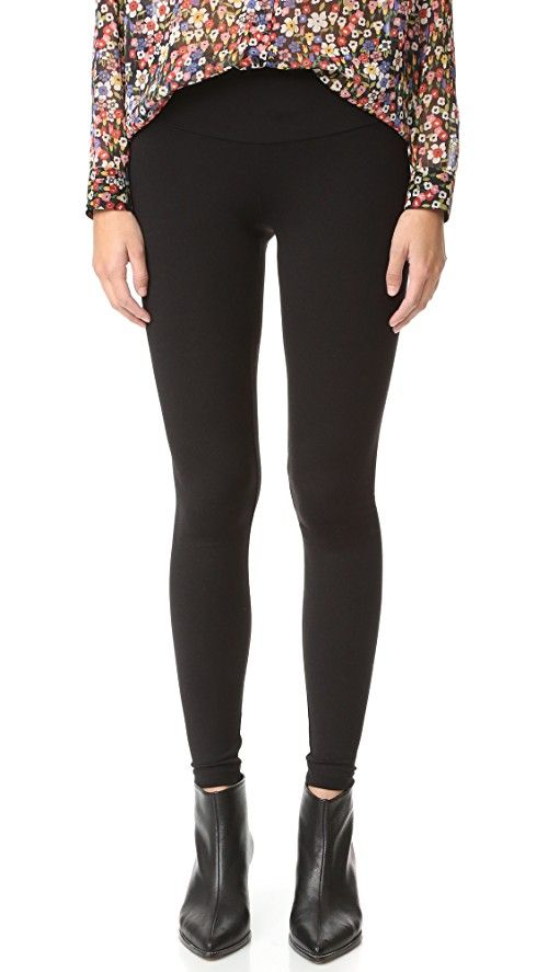 Susana Monaco Leggings | Low-rise, ankle-length Susana Monaco leggings with a wide waistband. Fabric: Jersey. 86% nylon/14% lycra spandex. Wash cold. Made in the USA. MEASUREMENTS Rise: 7.5in / 19cm Inseam: 27in / 68.5cm