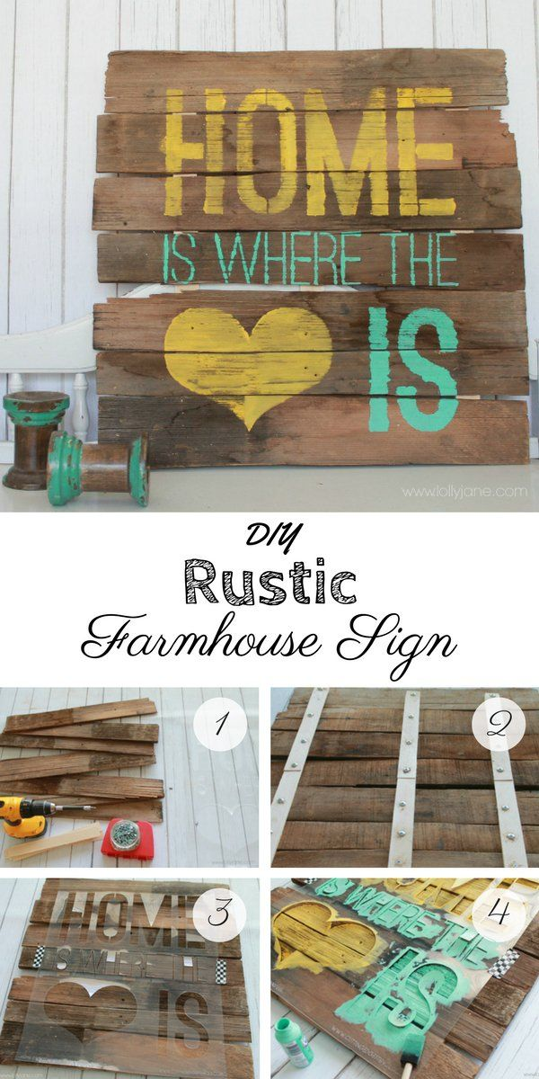 Check out how to make an easy DIY Rustic Farmhouse Style Sign @istandarddesign