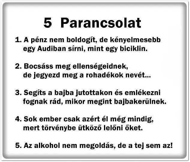 5 parancsolat :'D