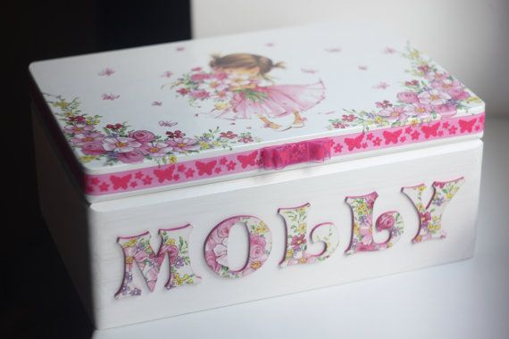 Wooden personalized baby keepsake box by DumontsHandicrafts