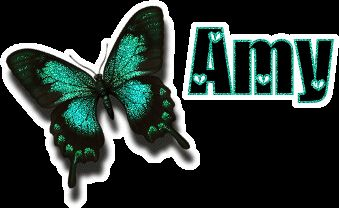 Amy name graphics in green