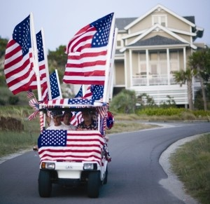4th of July Cart Parade in Bald Head Island, NC (so excited we will be there this year for the parade :) )