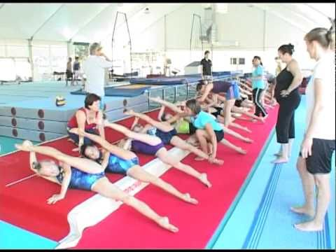 European Union of Gymnastics Camp - Tirrena - July 2010 | Warm up Part 2 - YouTube