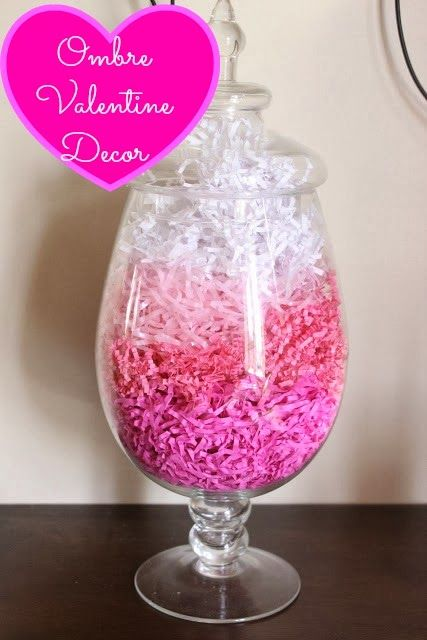 Ombre Valentine Decoration - how crazy simple but adorable is this?!