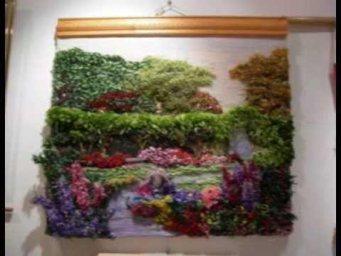 Como hacer un telar casero y con el un mini tapiz /Decoracion - YouTube