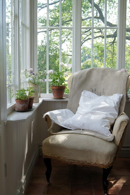 Sunny window with a view and comfy chair  ~  needs a good book, a cup of tea and me!