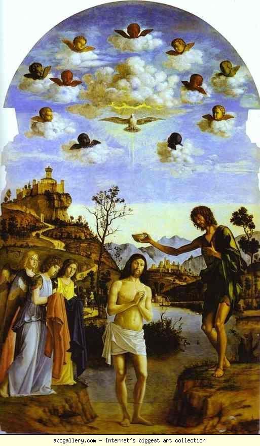 Baptism of Christ in the Jordan, Cima da Conegliano, c 1500.