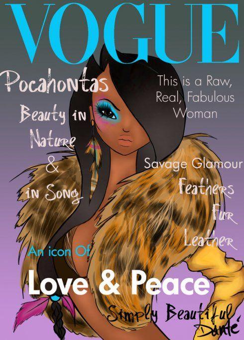 Disney Princesses Go Vogue